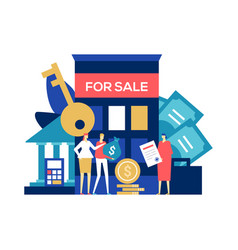 Real estate deal - colorful flat design style vector