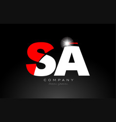 Red white color letter combination sa s vector