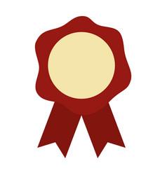 rosette medal on white background vector image