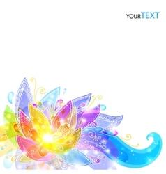 Shining flowers background vector image