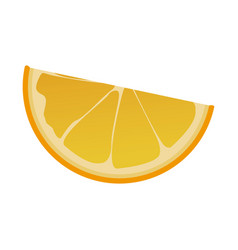 Slice orange fruit tropical food image vector