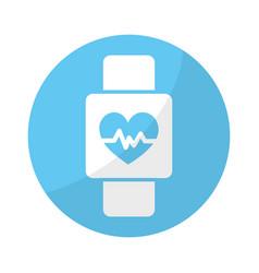 Sticker smartwatch to know the rhythm cardiac vector