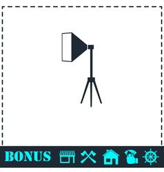 Studio lighting icon flat vector image