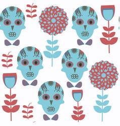 sugar skulls fantasy seamless pattern it is vector image