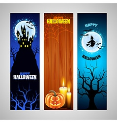 Three vertical halloween banners vector