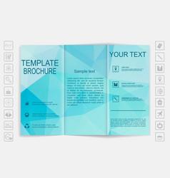 Tri-Fold Brochure mock up design Polygonal vector