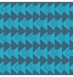 Triangle and spiral seamless pattern vector image