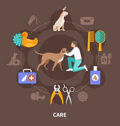 Veterinary help round composition vector
