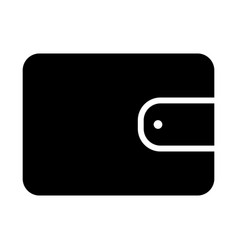 wallet silhouette icon 48x48 minimal pictogram vector image