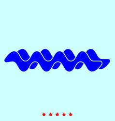 wave it is icon vector image