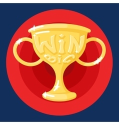 Win Cup Symbol Icon Concept on Stylish Background vector