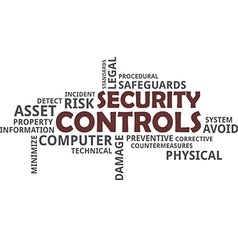 word cloud security controls vector image