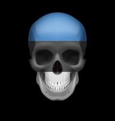 Estonian flag skull vector