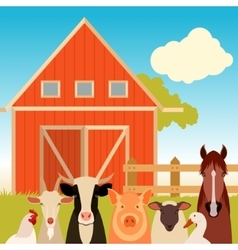 Farm banner with animals vector image vector image