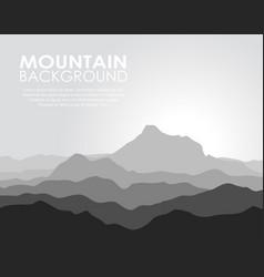 Huge mountain range vector