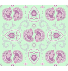 seamless pattern on light-green background vector image vector image