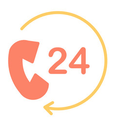 24 hours service support icon 48x48 pictogram vector image vector image