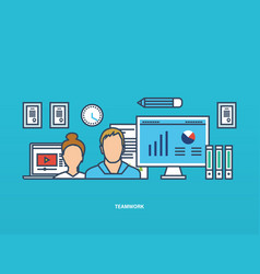business management collaboration and ideas vector image vector image