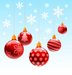 christmas ornament ball vector image vector image