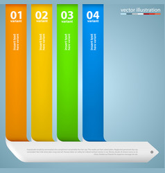 direction list of options vector image vector image