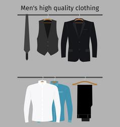 gentleman clothes set on a hanger vector image