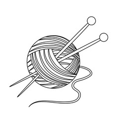 knittingold age single icon in outline style vector image