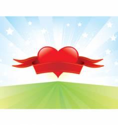 love banner vector image
