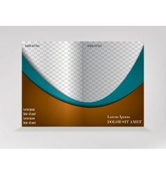 Pattern of empty brochure vector image