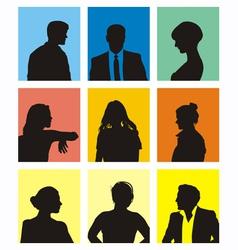 people avatars vector image vector image