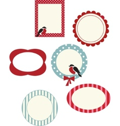 set of frames for christmas cards vector image vector image