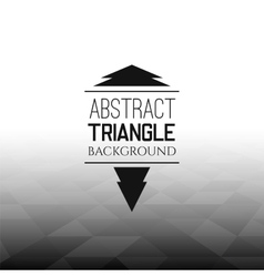 Abstract black triangle field perspetive pattern vector image vector image