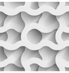 Abstract white paper waves 3d seamless background vector