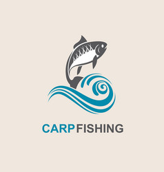 carp fish icon vector image vector image