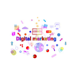 digital marketing concept business strategy vector image