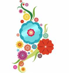 flower abstract vector image vector image