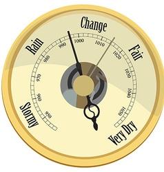 Golden barometer vector image vector image