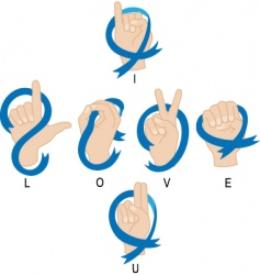 I love you hand vector image vector image