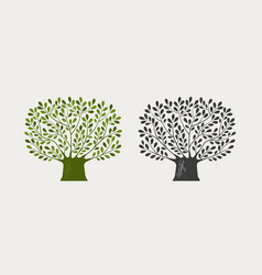 tree logo or symbol nature ecology environment vector image