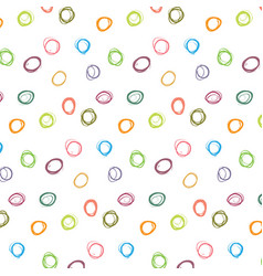 abstract colorful polka dot pattern vector image vector image