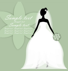 beautiful young bride vector image