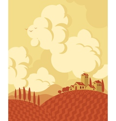 Fall landscape vector image