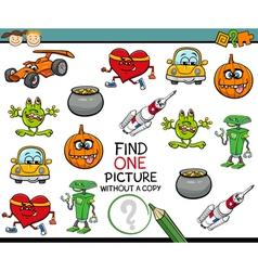 Find single picture preschool task vector
