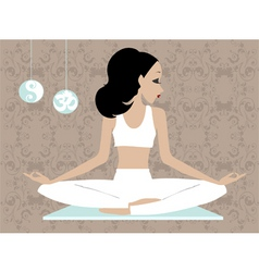 miss boo Yoga vector image vector image