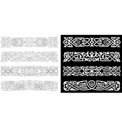Retro ornaments and patterns vector image vector image