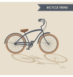 Trendy bike vector image vector image