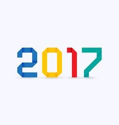 2017 origami theme vector image