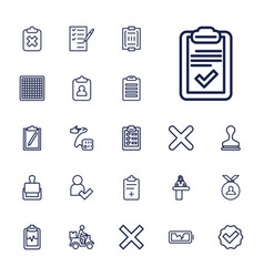 22 check icons vector