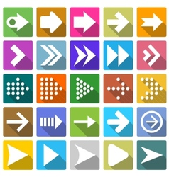 25 arrow icon set vector image