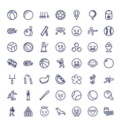 49 ball icons vector