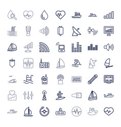 49 wave icons vector